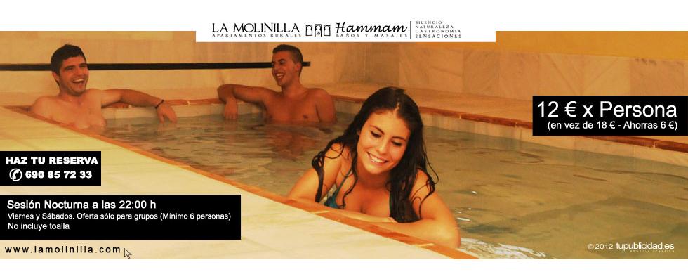 Oferta Sesión Nocturna Hammam Linares